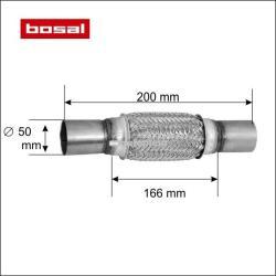BOSAL Racord flexibil toba esapament 50 x 200 mm BOSAL 265-319