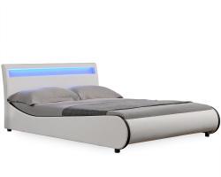 Corium Valencia műbőr ágykeret LED világítással 140x200cm