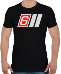 printfashion AUDI S6 - Férfi póló - Fekete