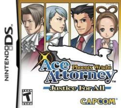 Capcom Phoenix Wright Ace Attorney Justice for All (Nintendo DS)