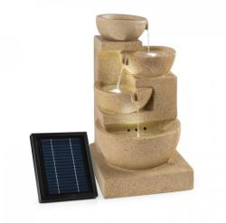 Blumfeldt KORINTH, fântănă decorativă, fântână de grădină, panou solar, 3 W, LED-uri, optică de gresie (SOL1-Korinth)