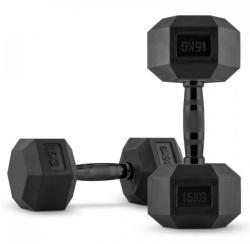 Capital Sports HEXBELL, ganteră de o mână, pereche 2 x 15 kg (FIT20-Hexbell)