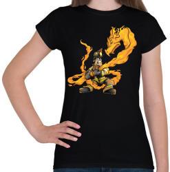 printfashion Firedragon - Női póló - Fekete