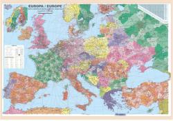 Harta de perete Europa coduri postale, laminata, 200x140 cm