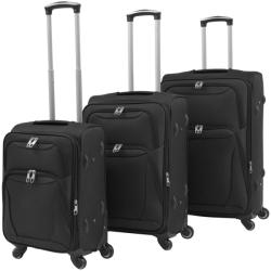 vidaXL Комплект от 3 броя меки куфари на колелца 9131