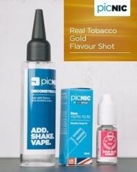 Jac Vapour Pachet 60ml Lichid Tigara Electronica Premium Jac Vapour Real Tobacco Gold, Nicotina 3mg/ml, 80%VG 20%PG, Fabricat in UK