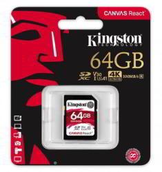 Kingston Canvas React SDXC 64GB UHS-I/C10/V30/U3 SDR/64GB