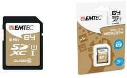 EMTEC Gold+ SDXC 64GB C10/UHS-I ECMSD64GXC10GP