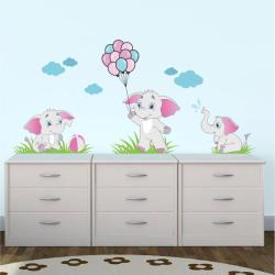 BeKid Stickere perete copii Elefantei - 121 x 60 cm