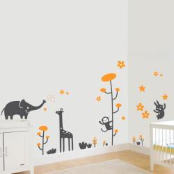 BeKid Stickere perete copii Animale vesele - 160 x 190 cm Decoratiune camera copii