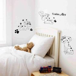 BeKid Stickere perete copii Catelusi - 130 x 110 cm Decoratiune camera copii