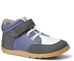 Bobux Kék-fehér magasszárú tépőzáras kiscipő - 24 (2-3 éves)