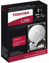 Toshiba L200 2.5 2TB 5400rpm 128MB SATA3 HDWL120EZSTA