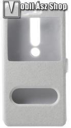 Műanyag védő tok / hátlap - FEHÉR - oldalra nyíló flip cover, asztali tartó funkció, mágneses záródás, hívásfelvétel - NOKIA 6.1 (2018)