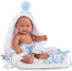 Llorens Bebito újszülött baba fürdőköpennyel - 26 cm