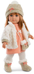 Llorens Elena baba fehér kardigánnal - 35 cm