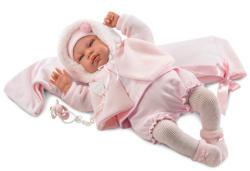 Llorens Beba sírós újszülött baba hordozókendővel - 44 cm