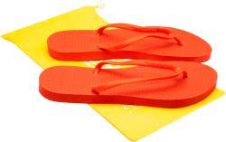 Suavesoles Papuci plastic plaja cu flip-flop, 3 seturi barete si husa depozitare Suavesoles, Corai, pentru femei