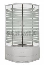 Sanimix 90x90x205 cm negyedköríves (22.44.5)