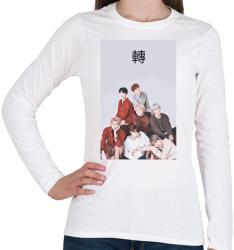 printfashion BTS Love Yourself Tear - Női hosszú ujjú póló - Fehér