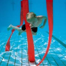 Tactic Sport Vízalatti szlalom szalag szett 8 db-os neon színű búvárjáték, súllyal nehezített , lebeg a medence