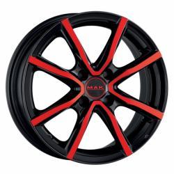 Mak Milano 4 Black & Red CB72 4/100 15x6 ET40