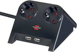 brennenstuhl Desktop-Power 2 Plug + 2 USB 1,8m (1153500222)