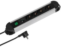 Vivanco 4 plug 2m Switch (37659)
