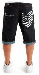 Cocaine Life Stars & Stripes Shorts Raw Blue