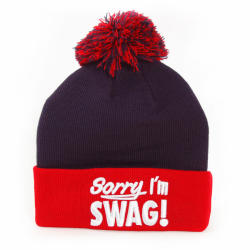 GangstaGroup Sorry I`m Swag! Winter Cap Navy Red