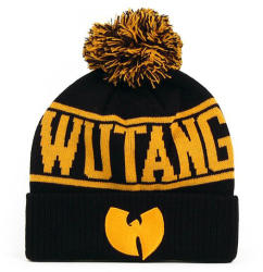 Wu-Wear Wu-Tang Logo Winter Cap Black Yellow
