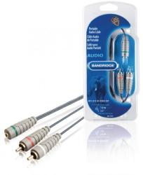 Bandridge Cablu audio stereo 2x RCA tata - 3.5mm mama 1m albastru Bandridge (BAL3501)
