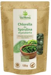 BioMenü Bio Chlorella és Spirulina tabletta 125g