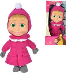 Simba Toys Mása és a medve - Mása baba téli ruhában - 23 cm