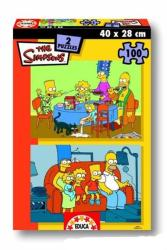 Educa Simpson család - otthon 2x100 db-os (12498)