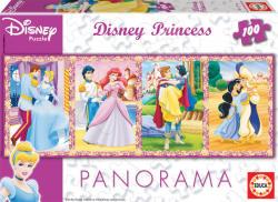 Educa Panoráma Puzzle - Disney Hercegnők 100 db-os (13500)