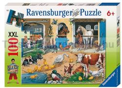 Ravensburger Állatok a tanyán XXL puzzle 100 db-os (10743)