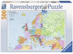 Ravensburger Európa politikai térképe 500 db-os (14430)