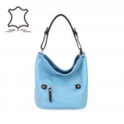 Vásárlás  Made in Italy Olasz bőr válltáska Luisa - világos kék Női ... 508c94d432