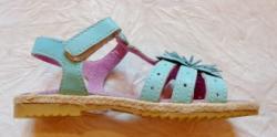 BabyRe Sandale copii Malibu - piele naturala marca BabyRe turcoise