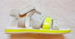 Loli Laly Sandale copii Milly - piele naturala marca Loli Laly alb/galben
