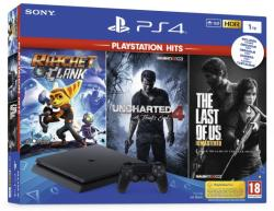 Sony PlayStation 4 Slim 1TB (PS4 Slim 1TB) + PS Hits: Ratchet & Clank + Uncharted 4 + The Last of Us Remastered