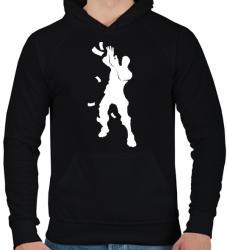 printfashion Fortnite - Make It Rain - Férfi kapucnis pulóver - Fekete