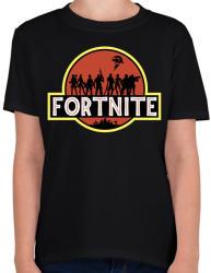 printfashion Fortnite Park - Gyerek póló - Fekete