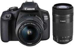 Canon EOS 2000D + 18-55mm II + 55-250mm IS STM