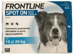 Merial Frontline Spot On caini 10-20 kg (M) - cutie cu 3 pipete