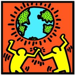 Educa Keith Haring: Figures with world 1000 db-os (12763)