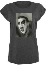 Mr. Tee Ladies Robbie Williams Clown Tee charcoal