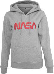 Mr. Tee Ladies NASA Worm Logo Hoody h. grey