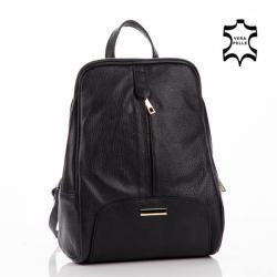 Lewitzky Valódi bőr női hátizsák (NT_321-black) - etaska